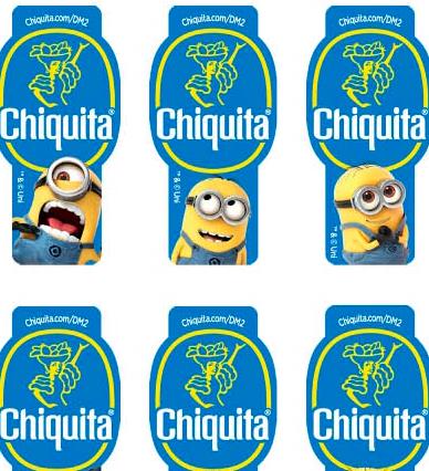 Cattivissima Chiquita: il marchio premium partner del cartone animato