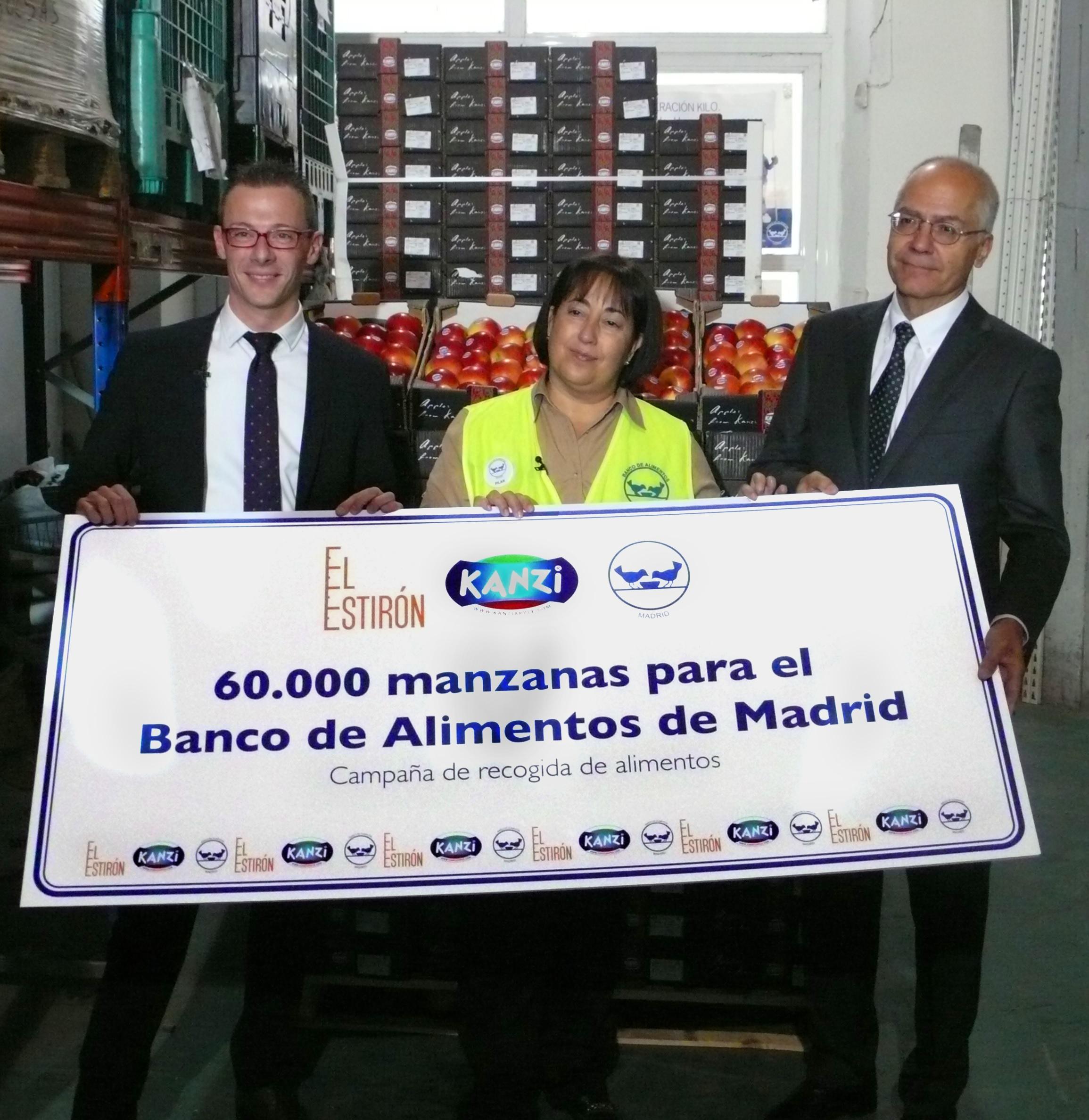 Kanzi: donate 60.000 mele al Banco Alimentare di Madrid