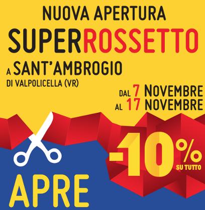 Rossetto, continua la crescita, nuova apertura in provincia di Verona