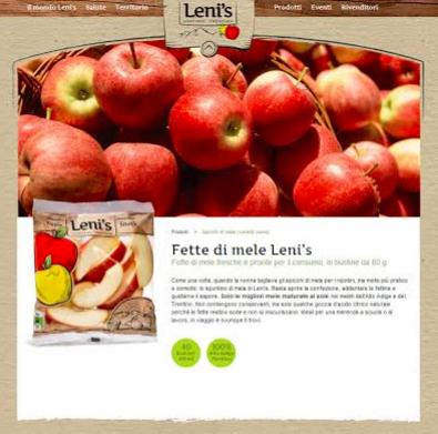 Leni's: nuovo sito per le mele trasformate di VOG Products