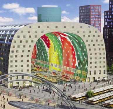 Primo mercato coperto dei Paesi Bassi a Rotterdam