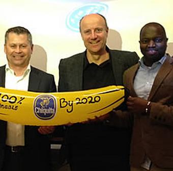 Banane Chiquita sostenibili entro il 2020