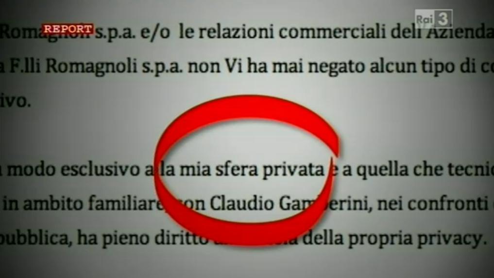 Gamberini Conad Report
