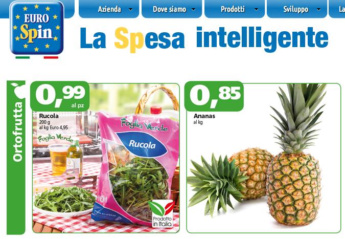 Frutta e verdura lidl italia offerte for Offerte eurospin
