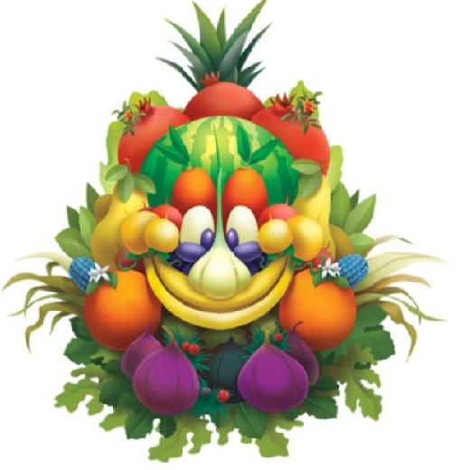 Expo nel logo un 39 opera d 39 arte che nasconde 40 variet di - Immagine di frutta e verdura ...