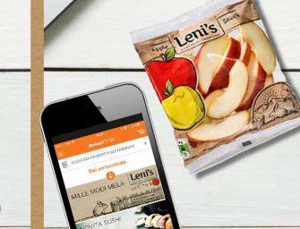Leni's sbarca su Amazon: spicchi di mela, succhi e mousse a casa 7 giorni su 7