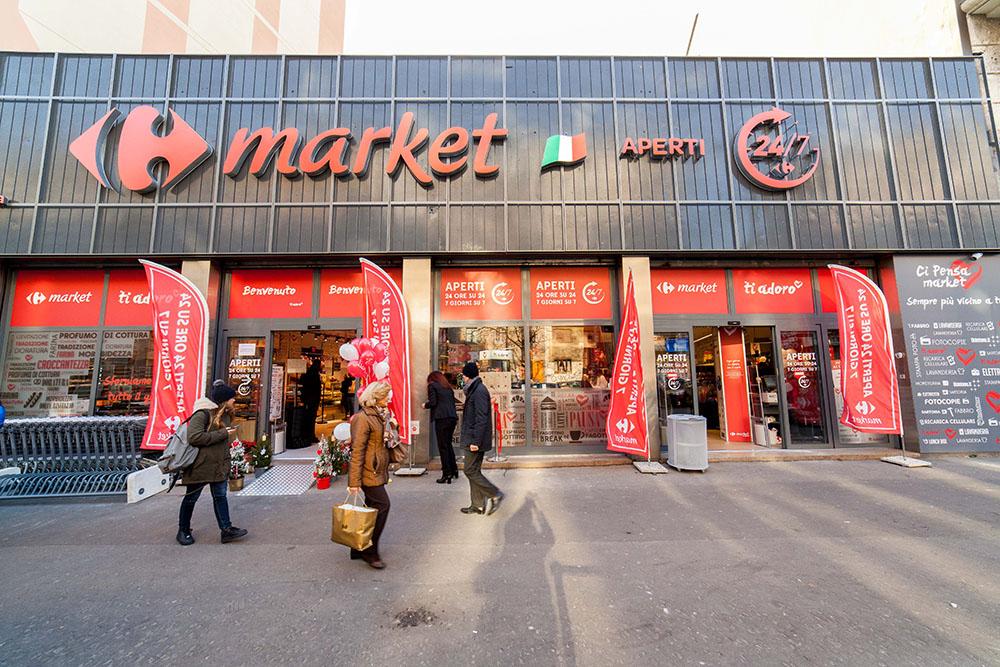 Carrefour chiude supermercati e taglia 500 persone in Italia