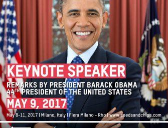 Dalle alghe agli insetti, i superfood del futuro a Seeds&Chips. Obama special guest
