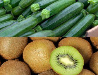 Gen-feb 2017: +4% i consumi di frutta e verdura. Boom per zucchine e kiwi
