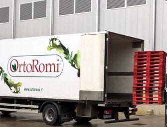 OrtoRomi sceglie il pallet rosso e ottimizza la logistica. Grazie a LPR