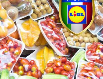 Lidl Italia, meno imballaggi di plastica. Entro il 2025 taglio del 20% almeno