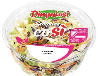 DimmidiSì lancia Semplice Così, la nuova linea di insalate con dressing