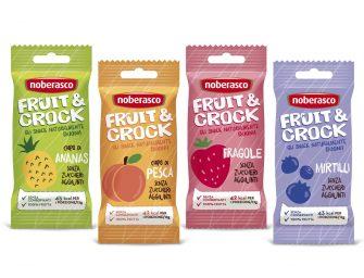 Noberasco lancia Fruit&Crock, chips di frutta croccanti e naturali al 100%