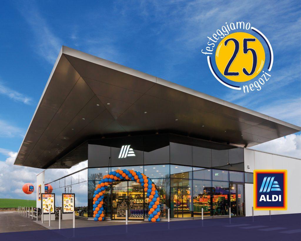 Aldi inaugura il 25° negozio in Italia