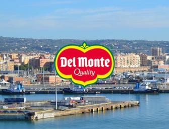 Del Monte, accordo con il porto di Civitavecchia per la logistica dei freschi