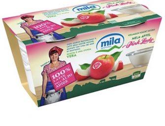 VOG presenta insieme a Mila il nuovo yogurt al cucchiaio al gusto mela Pink Lady