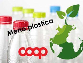 Coop riduce la plastica, specie dai suoi prodotti a marchio, e aderisce alla campagna UE