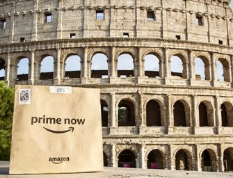 Amazon Prime Now sbarca a Roma: i freschi di Pam Panorama in un'ora a casa