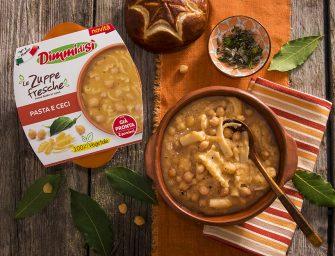 Zuppe Fresche DimmidiSì, due novità: Pasta e ceci e Minestrone di verdure con soia edamame