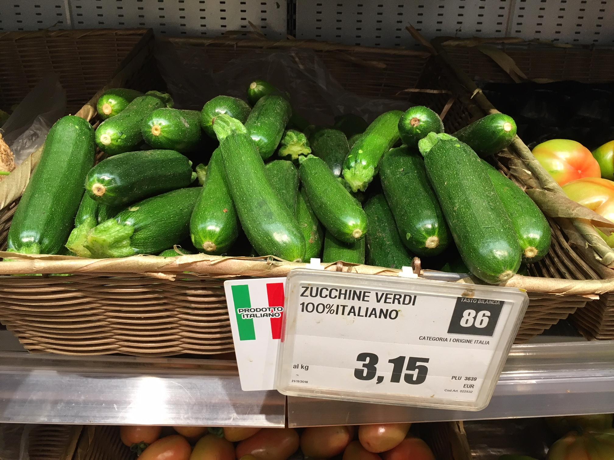 ortaggi Interspar prezzi