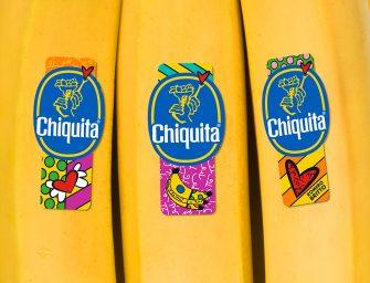 """Bollino d'autore per Chiquita: a dicembre banane """"pop"""" con gli sticker firmati da Romero Britto"""