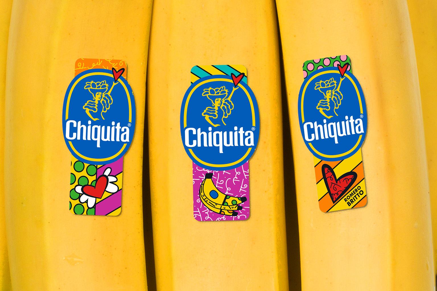 Chiquita bollino Romero Britto