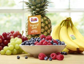 Dole, nuovo brand design: anteprima a Fruit Logistica con degustazioni di snack di frutta