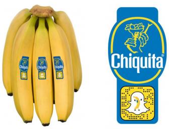 Chiquita parla ai consumatori Millennials e Centennials con il bollino per Snapchat
