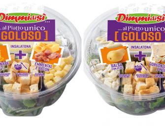 DimmidiSì amplia la gamma delle insalatone arricchite con due proposte gourmet