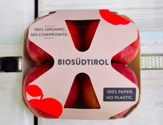 VOG sempre più sostenibile, arriva il vassoio mele 100% cartone