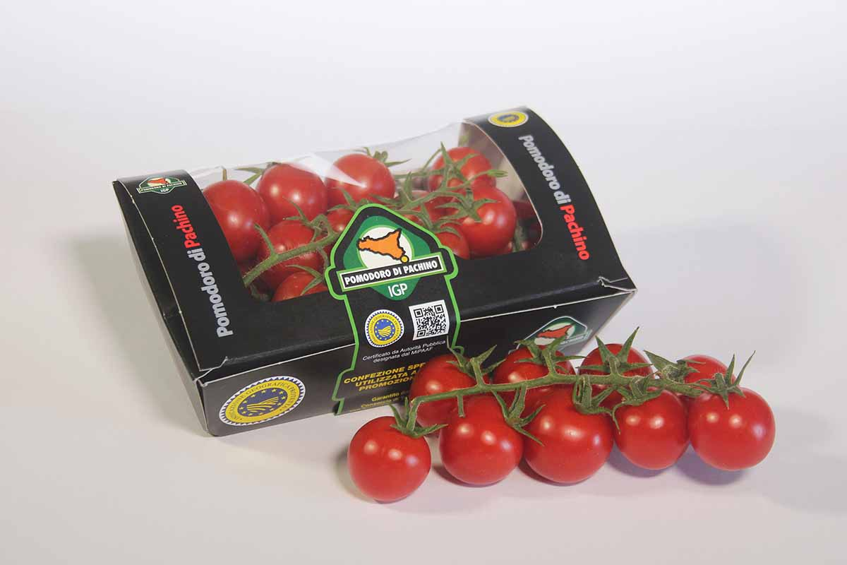 Pomodoro di Pachino IGP packaging